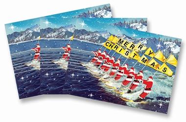 Weihnachtskarten Max Hernn Santa Claus Wasserski