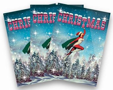 Weihnachtskarten Max Hernn Superhero Girl