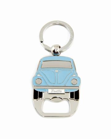 VW Käfer Schlüsselanhänger mit Flaschenöffner - Blau - Volkswagen