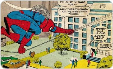 Frühstücksbrettchen - Spiderman in Time Comic Marvel