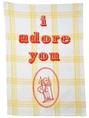 I Adore You - Geschirrtuch