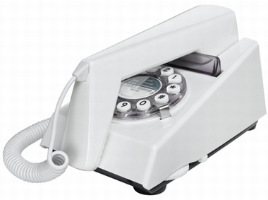 Retrotelefon Trim - Weiss