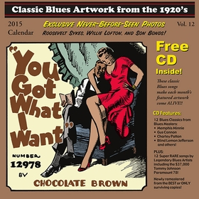 CLASSIC BLUES ARTWORK FROM THE 1920s - 2015 Calendar