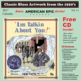 CLASSIC BLUES ARTWORK FROM THE 1920s - 2017 Calendar