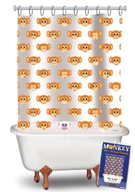 Duschvorhang - Affe - Monkey - Transparent