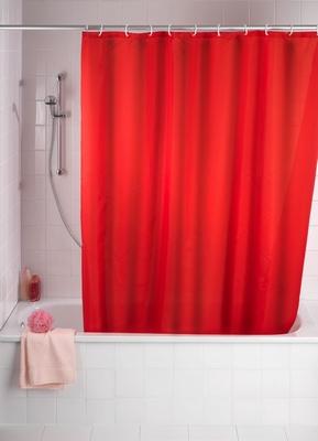 Anti-Schimmel Duschvorhang - Rot