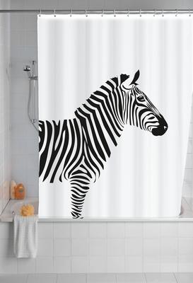 Anti-Schimmel Duschvorhang - Zebra