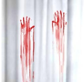 Blutbad Duschvorhang - Blutige H�nde