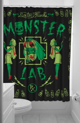 Duschvorhang monster lab klang und kleid interior - Schwarzer duschvorhang ...