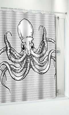 duschvorhang oktopus klang und kleid interior. Black Bedroom Furniture Sets. Home Design Ideas