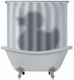 Schatten der Quietscheente Duschvorhang