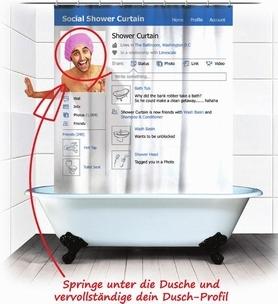 Soziales Netzwerk Duschvorhang