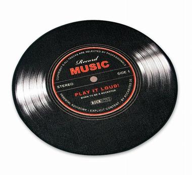 Record Music Teppich Schallplatte