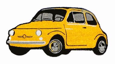 Fiat 500 Fussmatte - GELB