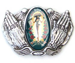 Lady Guadalupe Outlaw - Felon Belt Buckle