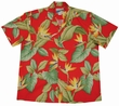 AIRBRUSH BIRD OF PARADISE - ROT - WAIMEA CASUAL