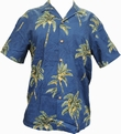 ORIGINAL HAWAIIHEMD - COCONUT TREE - NAVY - PARADISE FOUND