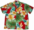 Original Hawaiihemd - Plumeria Beauty Red - Paradise Found Modell: PluBeRe