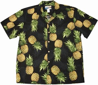 Original Hawaiihemd - Maui Pineapple - Schwarz - Waimea Casual