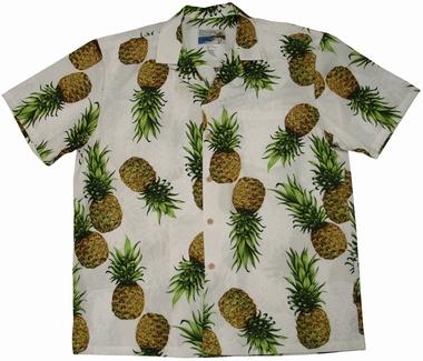 Original Hawaiihemd - Maui Pineapple - Weiss - Waimea Casual