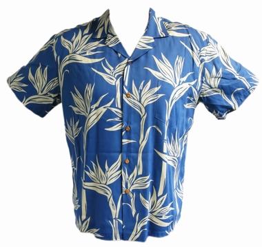 Original Hawaiihemd - Pareau Paradise - blau - Paradise Found