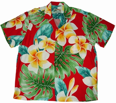 Original Hawaiihemd - Plumeria Beauty Red - Paradise Found