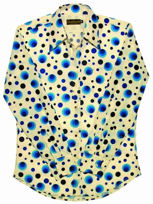Retro Hemd - Dots & Spots Blau