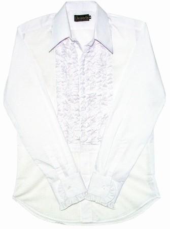 Rüschenhemd - weiß weiß
