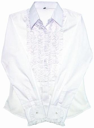 Rüschenhemd Ladies - weiss
