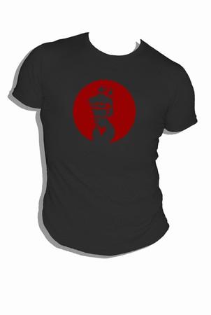 Bound - schwarz-rot - shirt