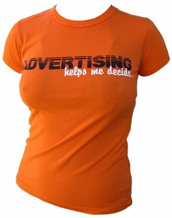 VintageVantage - Advertising helps me decide girlie shirt