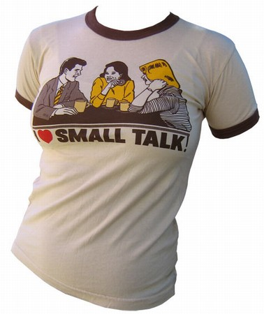 VintageVantage - Small talk girlie shirt