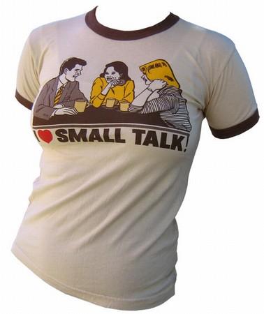VintageVantage - Small talk girlie shirt