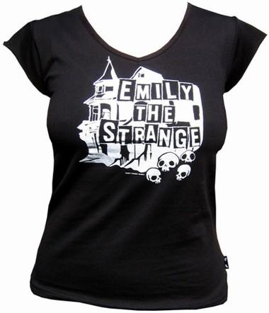 Emily the Strange - Haunted V-Neck Shirt