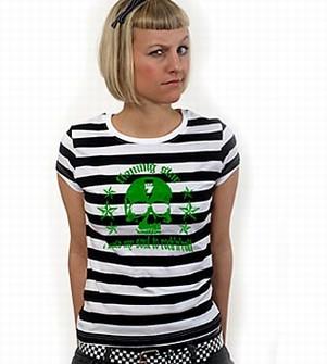 Sold my soul to Rock n Roll Girl Shirt gestreift