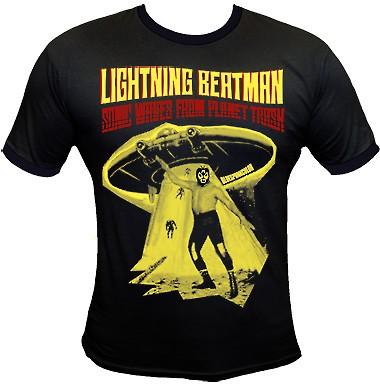 Lightning Beat-Man Shirt - Black