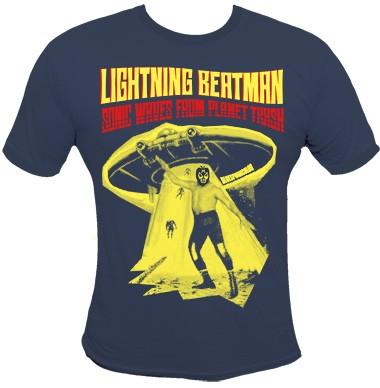 Lightning Beat-Man Shirt - Blue