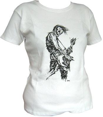 Bassist - White - Girl Shirt
