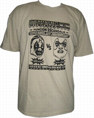 Lucha Libre Shirt - Mil Mascaras vs. El Halcon - Black