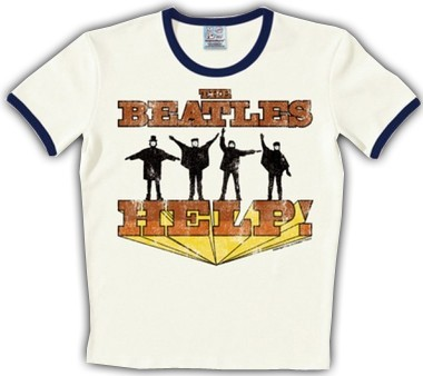 Logoshirt - The Beatles Shirt Help - White