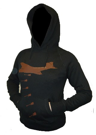 Drowning the world in music - Black - GIRL - Hoody