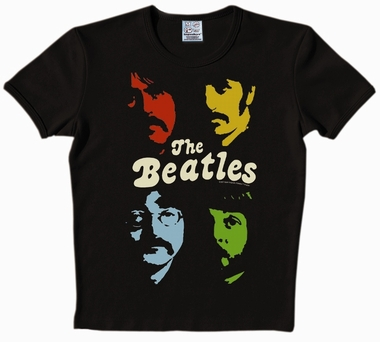 Logoshirt - THE BEATLES Shirt - Faces - Schwarz