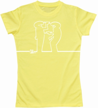 La Linea Girl Shirt - Draw Me - gelb