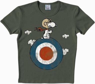 Logoshirt - Peanuts - Snoopy Target - Shirt Oliv