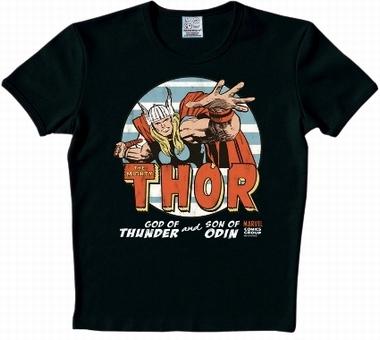 Logoshirt - Thor Shirt - Marvel - Schwarz