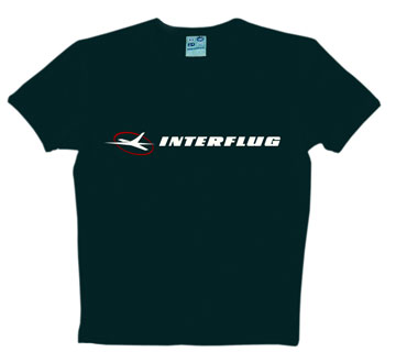 Logoshirt - Interflug Classic Schwarz - Shirt