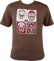 MIL MASCARAS SHIRT - 4 MASCARAS - BROWN