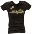 CHILLED BEACH - GIRL SHIRT SCHWARZ