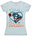 LOGOSHIRT - MARVEL - MY BOYFRIEND IS A SUPERHERO  - GIRL SHIRT