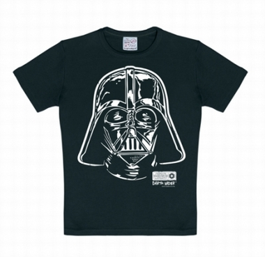 Kids Shirt - Star Wars - Darth Vader - Portrait Schwarz